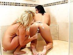 Babe Blonde Brunette Shower