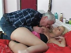 Big Boobs Blonde Blowjob Old and Young Teen