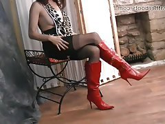 Foot Fetish Latex MILF Pantyhose