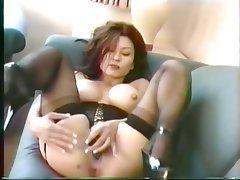 Masturbation Brunette Pantyhose Mature Asian