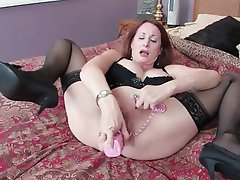 Big Boobs Brunette Masturbation MILF Pantyhose
