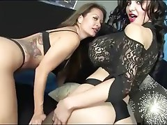 Lesbians Trying On Lingerie