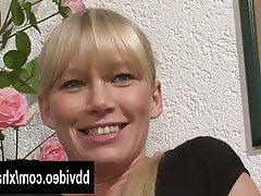 Blonde German Masturbation MILF