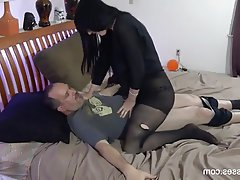 Creampie Cumshot Femdom Old and Young Stockings