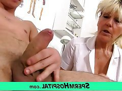 Mature MILF Granny Old and Young Handjob