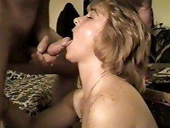 Amateur Blonde Blowjob Cumshot MILF