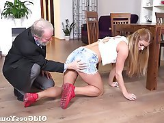 Blonde Hardcore Old and Young Teen