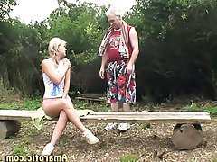 Babe Blonde Old and Young Outdoor