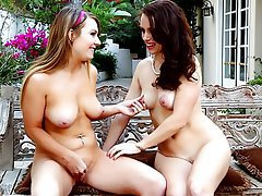 Lesbian MILF Old and Young Outdoor Teen