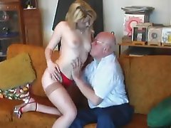 Blonde Cumshot Hardcore Old and Young Stockings