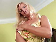 Blonde Dildo Masturbation MILF