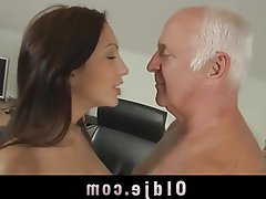 Brunette Cunnilingus Old and Young Teen