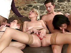 Group Sex Granny Mature MILF Old and Young