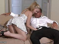 Blonde Czech Hardcore Old and Young Teen