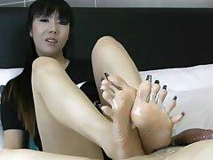 Amateur Foot Fetish Footjob Asian