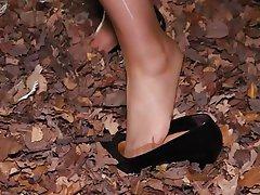 Foot Fetish Footjob Pantyhose Outdoor Stockings