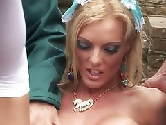 MILF Blowjob Big Boobs Blonde Brunette