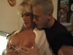 Mature Old and Young Classic Threesome