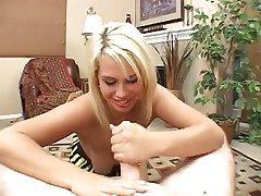 Blonde Cumshot Handjob POV