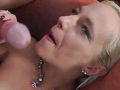 Amateur Blonde Cumshot Facial Handjob
