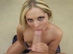 Blonde Blowjob Cumshot Pornstar POV