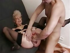 Blowjob French Granny Mature Old and Young