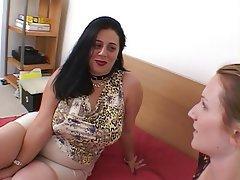 Lesbian BBW Big Boobs Blonde Anal