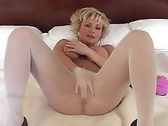 Blonde Foot Fetish Mature Pantyhose Stockings