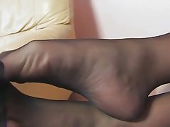 Amateur Blonde Foot Fetish MILF Stockings