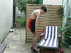German Masturbation Mature Outdoor