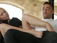 Blonde Blowjob Cumshot Foot Fetish