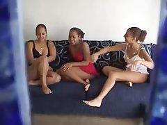 Amateur Lesbian Threesome