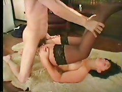 Anal British Hardcore Stockings Threesome