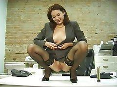 Anal Masturbation MILF Brunette Pantyhose