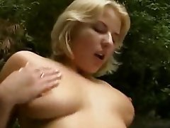 Blonde German Hardcore Outdoor