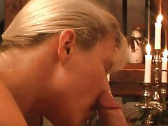 Amateur Blonde Blowjob Facial
