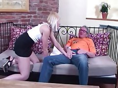 Cumshot Cunnilingus Blowjob Blonde Old and Young