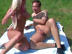 Amateur German Old and Young Outdoor Teen