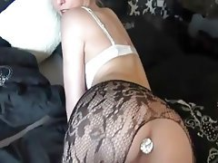 Anal Blonde Creampie Lingerie