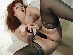 MILF Pantyhose Redhead Stockings