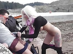 Big Boobs Blonde German Outdoor Teen