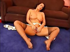 Big Boobs Foot Fetish Masturbation MILF Pantyhose
