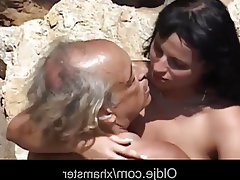 Ass Licking Brunette Facial Old and Young Teen