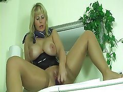 Big Boobs Blonde Masturbation MILF Pantyhose