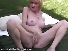 Amateur Blonde Facial Granny MILF